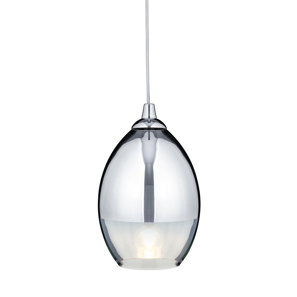 Searchlight 9681CC Modern Chrome Glass Pendant