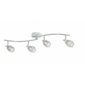 9994CC Mesh Spot I 4 Light Semi Flush Ceiling Light Chrome
