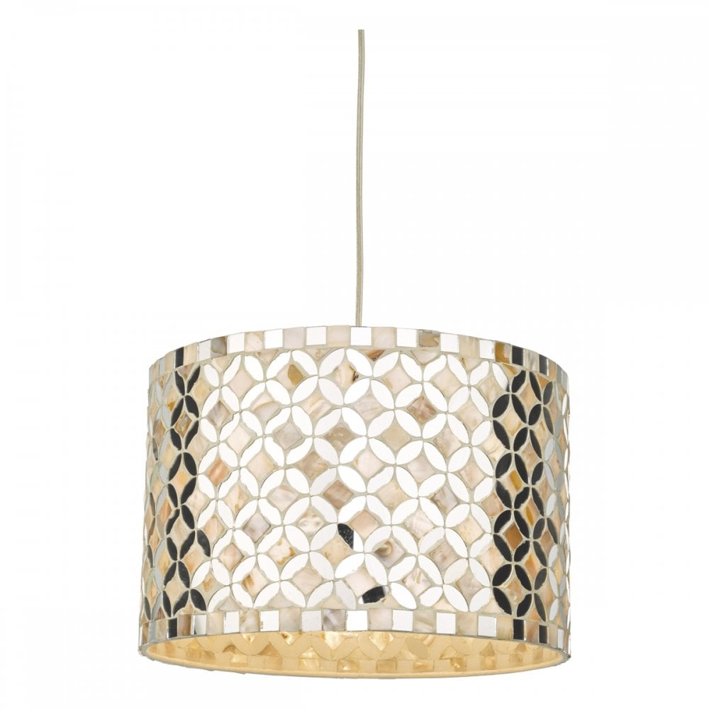 Acquila stunning easy fit ceiling pendant light with mirrored glass detail acq6568