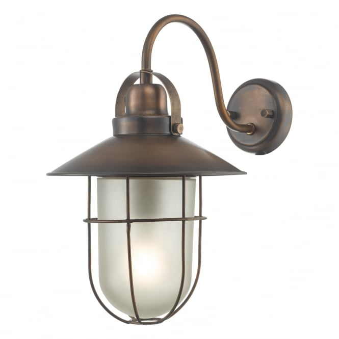 Dar Lighting Addison Solid Brass Outdoor Wall Light In Copper Finish ADD1564