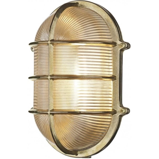 David Hunt Lighting Admiral Large Oval Solid Brass Exterior Wall Light IP64 ADM2140
