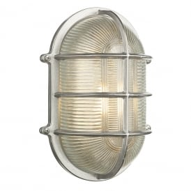 Admiral Outdoor Oval Wall Light In Nickel Finish IP64 ADM2138