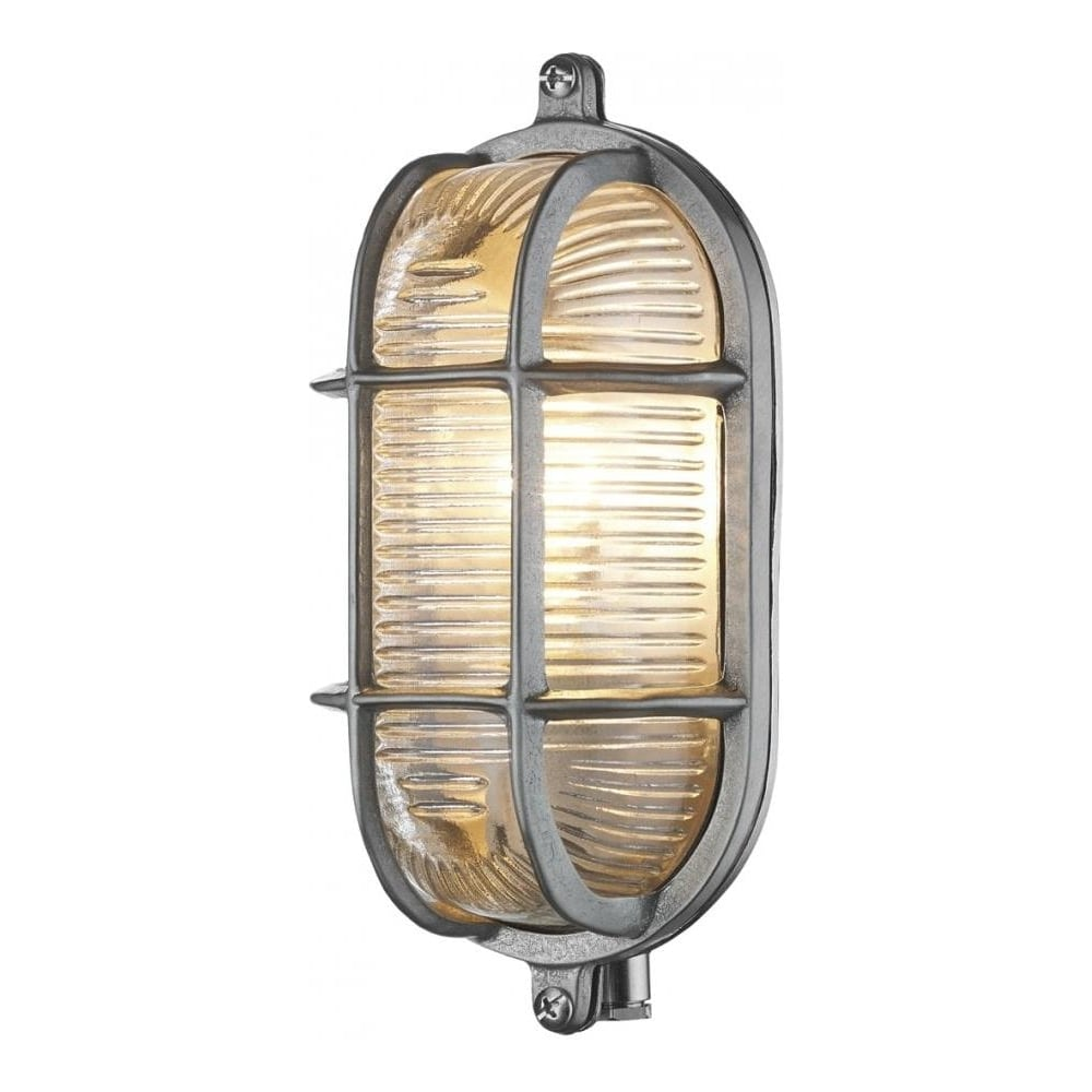 Small Wall Lights For Bathroom : Dar Lighting Admiral Small Oval Nickel Outdoor Wall Light IP44 ADM5238 - Lighting from The Home ...
