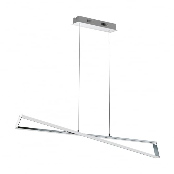 Eglo Lighting Agrela Modern LED Ceiling Bar Pendant Light In Chrome Finish 95566