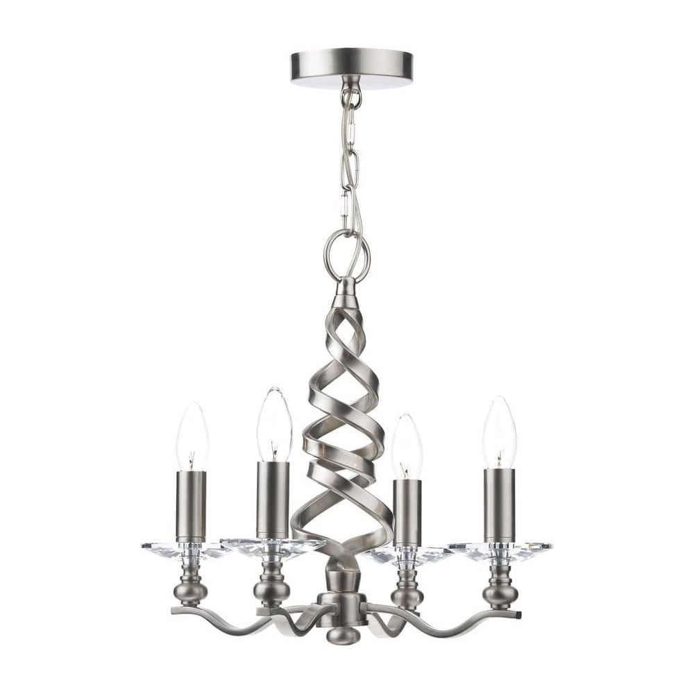 ala0446 alassio decorative 4 light twirl satin chrome