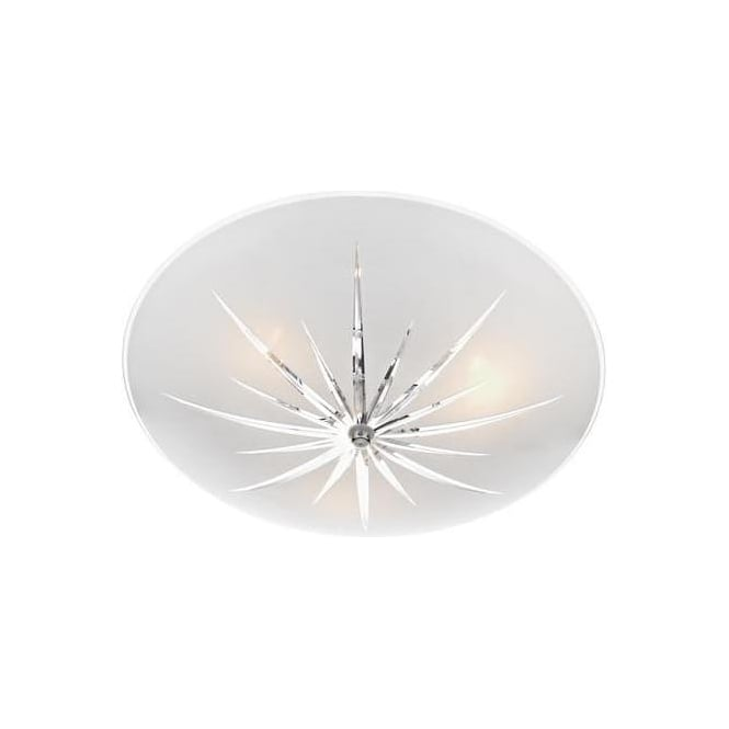 Dar Lighting ALB532 Albany 3 Light Semi Flush Ceiling Light in Polished Chrome