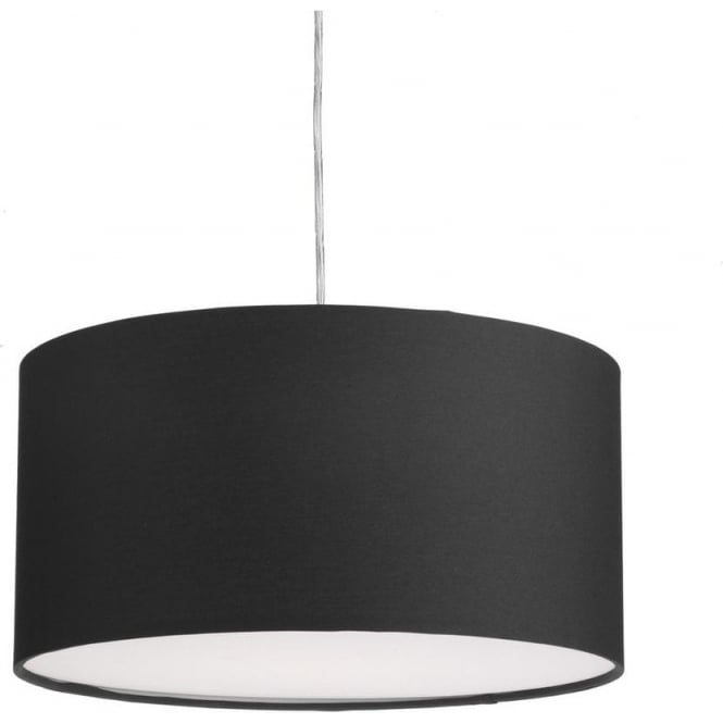 Dar Lighting ALM1622 Almeria Easy Fit Medium Round Black Shade