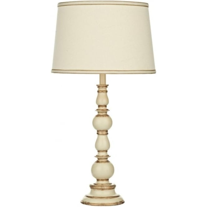 ALP4233/X Alpine Cream & Gold Traditional Table Lamp with Cream Shade