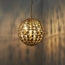 Alvah Modern Three Light Ceiling Pendant In Gold Leaf Finish 72797