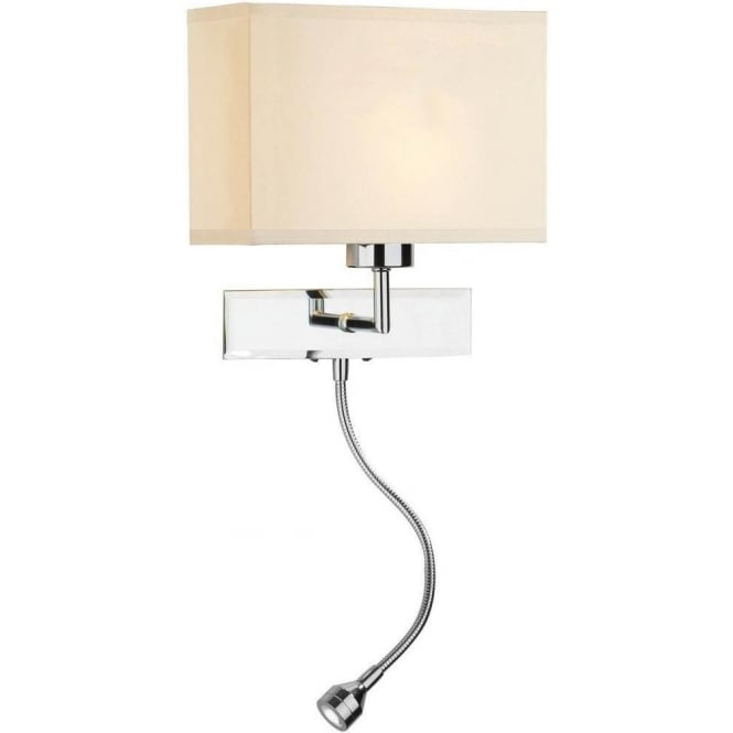Dar Lighting AMA0750 + S1025 AMALFI WITH CREAM SHADE
