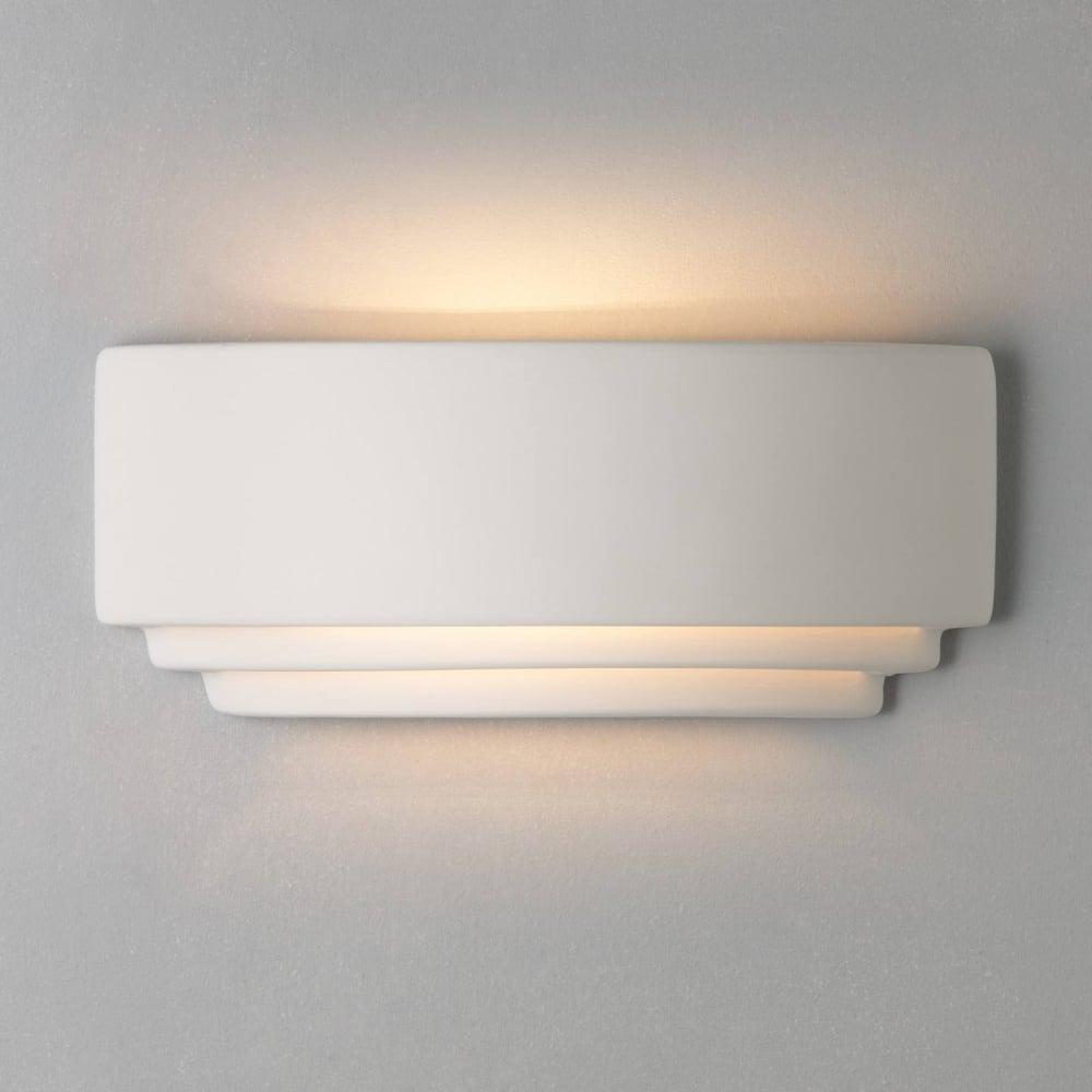 242e134a0cdb Astro Lighting Amalfi 380 Art Deco Wall Washer In White Ceramic ...