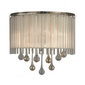 Ambience Stunning 2 Light Wall Bracket In Bronze With Crystal Drops FL2346/2