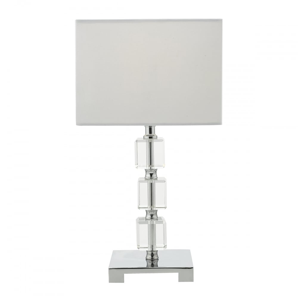Square Crystal Table Lamp   Dunelm