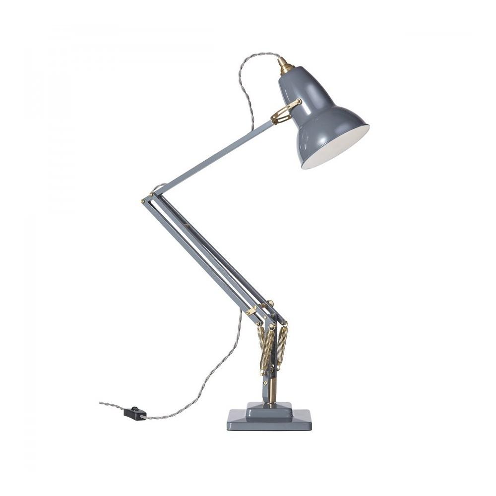 Anglepoise 31299 original 1227 brass adjustable desk lamp in 31299 original 1227 brass adjustable desk lamp in elephant grey mozeypictures Gallery