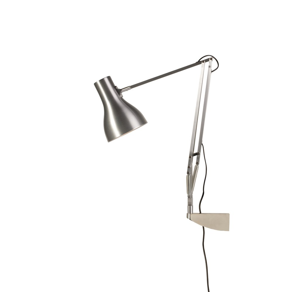 Wall Mounted Adjustable Lamps : Anglepoise 31328 Type 75 Wall Mounted Adjustable Light in Brushed Aluminium - Anglepoise from ...