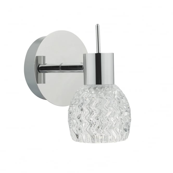 Dar Lighting Anika LED Glass Wall Light In Polished Chrome Finish ANI0750