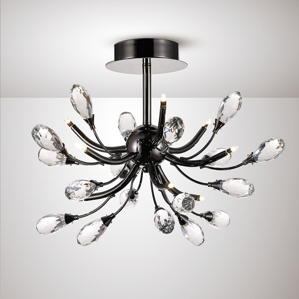 Diyas Lighting Anita Modern 9 Light Semi Flush Ceiling ...