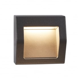 Ankle Outdoor Square Recessed Wall Light In Grey Finish IP54 0221GY