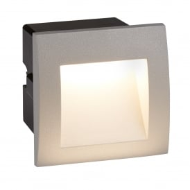 Ankle Outdoor Square Recessed Wall Light In Grey Finish IP65 0661GY
