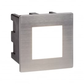 Ankle Outdoor Square Recessed Wall Light In Stainless Steel Finish IP65 0761