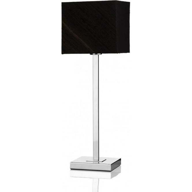 Dar Lighting Anvil Table Lamp with Black Shade ANV4250 + ANV0822