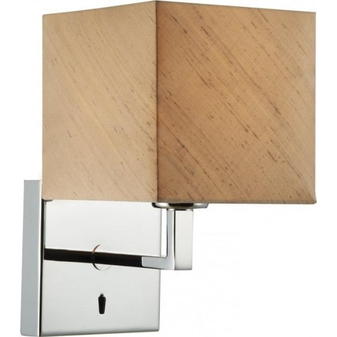 Dar Lighting Anvil Wall Light with Taupe Shade ANV0750F + ANV0701