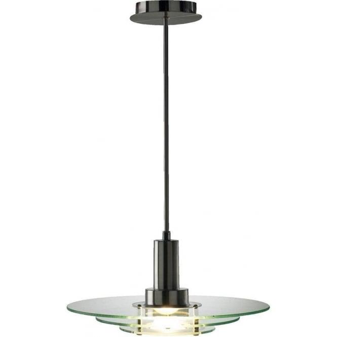 Dar Lighting APE8646 Apeture Triple Glass Ceiling Pendant