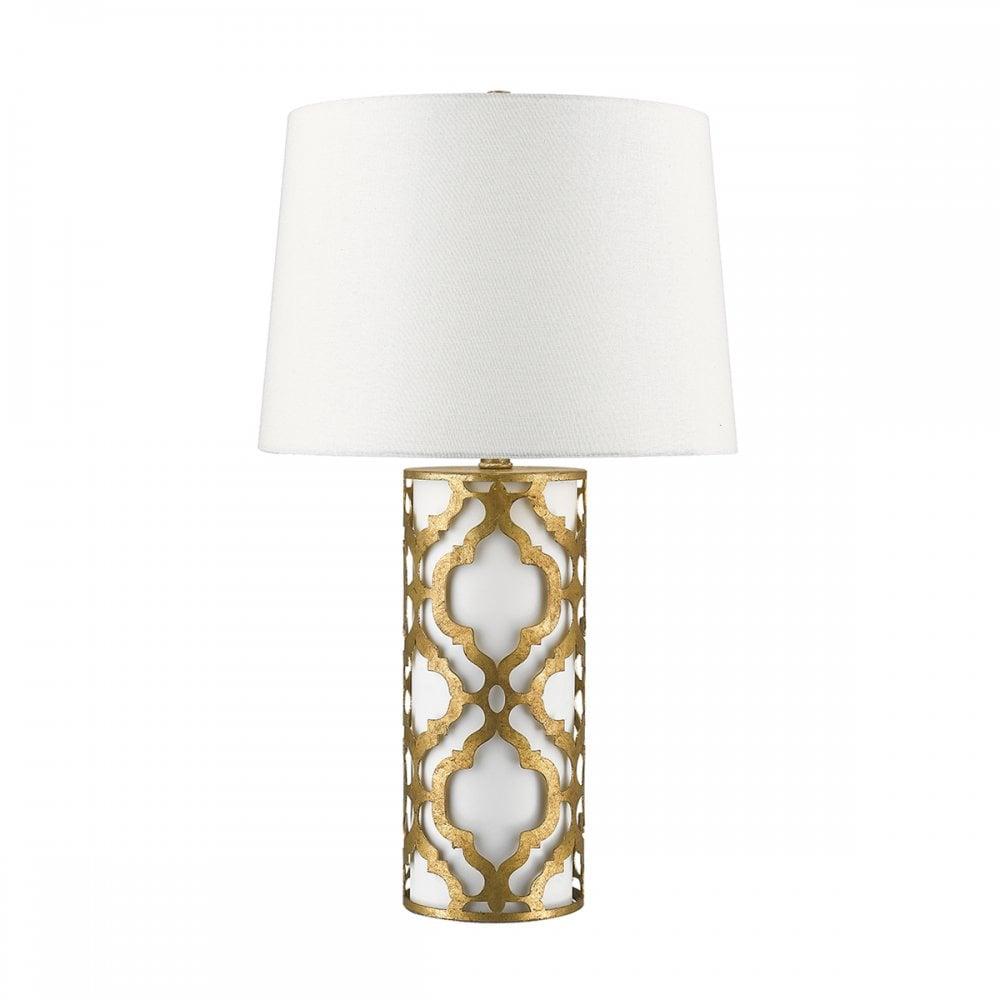 Elstead Arabella Stunning Table Lamp In Distressed Gold Finish GNARABELLATLG