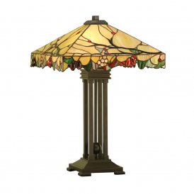 Arbois Tiffany Table Lamp With Veined Art Glass Beads 63909
