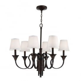 Arbor Creek 6 Light Chandelier in Bronze and Brass Finish FE/ARBOR CREEK6