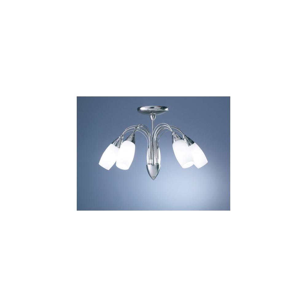 Arena Vision Lights: ARE5446 Arena Satin Chrome 5 Light Semi Flush Fitting