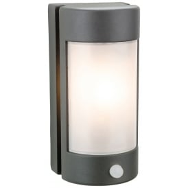 Arena Outdoor PIR Wall Light In Graphite Finish with Opal Diffuser 3427