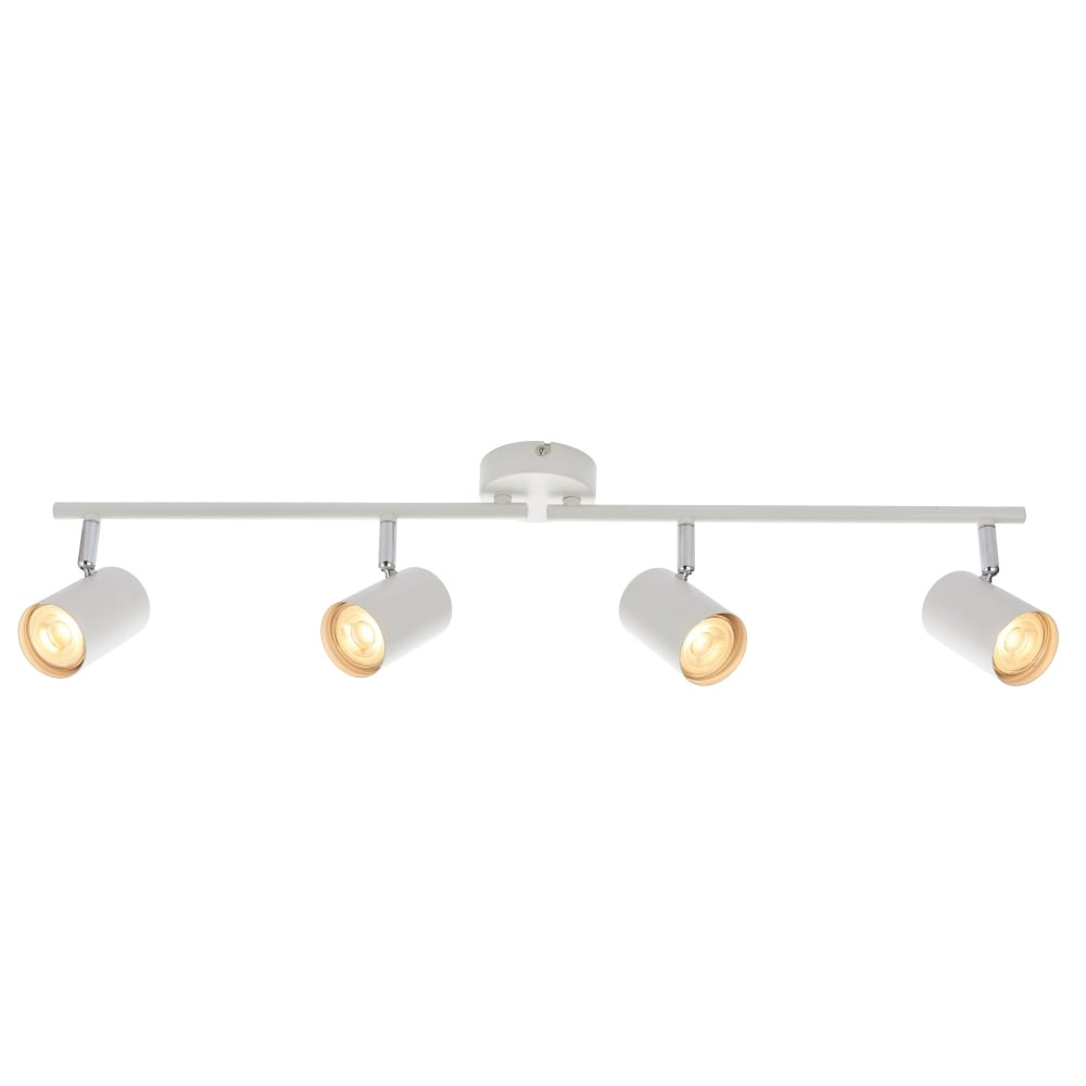 new styles 8359a 8d8fb Arezzo 4 Light Adjustable Ceiling Bar Spotlight In Matt White Finish 73686