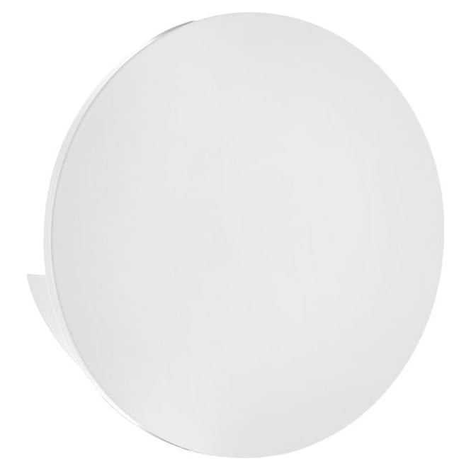 Dar Lighting ARG0768 Argo Contemporary Aluminium & White Round LED Wall Light