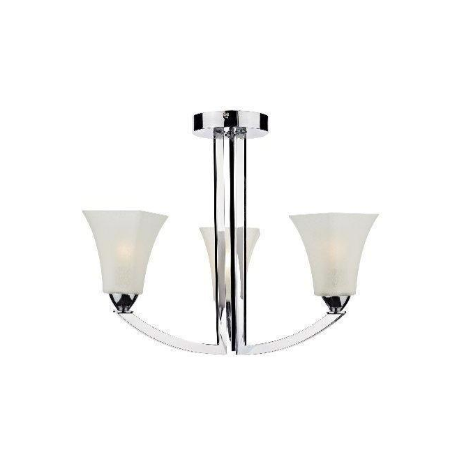 Dar Lighting ARL0350 Arlington 3 Light Chrome Ceiling Fitting