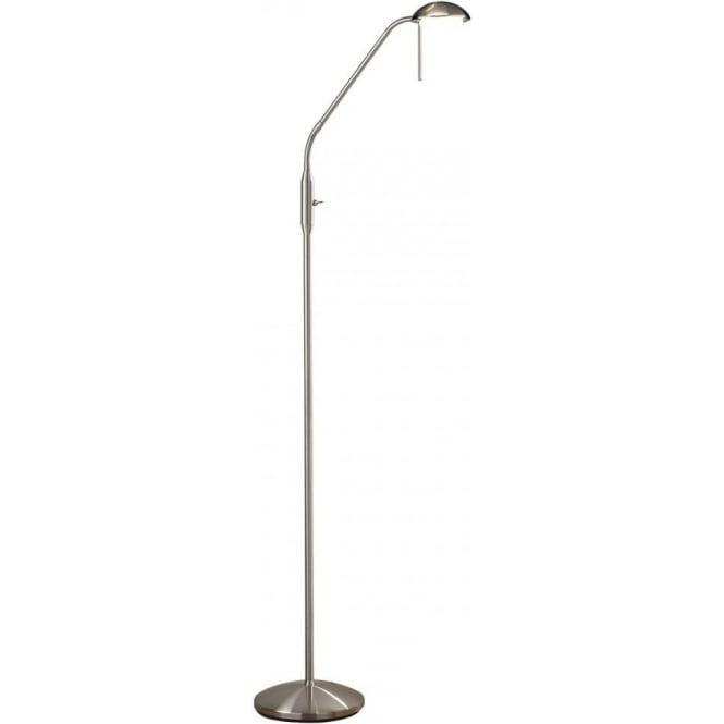 Dar Lighting Armada Sain Chrome LED Floor Standing Reading Lamp ARM4946
