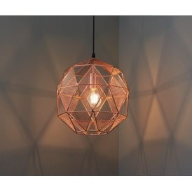 Armour Modern One Light Ceiling Pendant In Copper Finish 72815