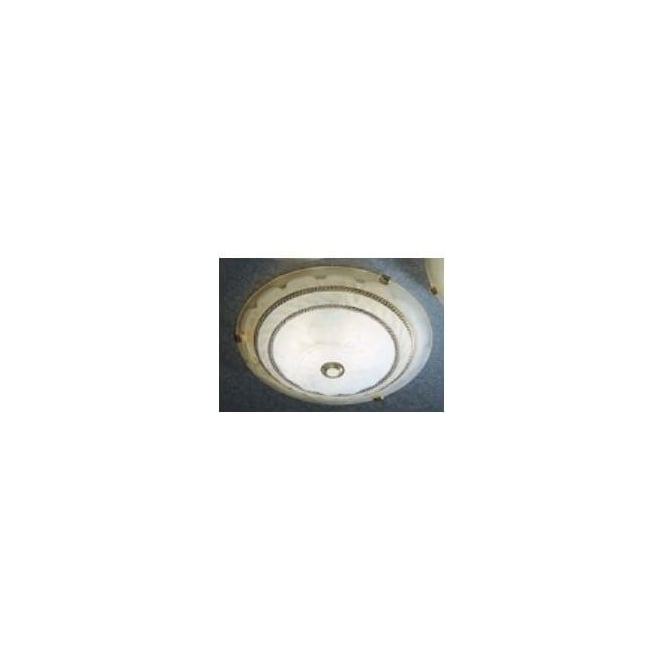 Dar Lighting ARR506EM Arran Emergency Low Energy 40cm Flush Ceiling Light