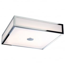 Aruba Bathroom LED Rectangular Flush Ceiling Light In Chrome Finish 3463