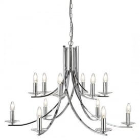Ascona Classic 12 Light Chandelier in Chrome Finish 41612-12CC