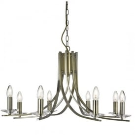 Ascona Classic 8 Light Chandelier in Antique Brass Finish 4168-8AB
