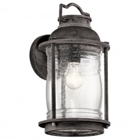 Ashland Bay Large Wall Lantern In Weathered Zinc Finish KL/ASHLANDBAY2/L