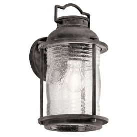 Ashland Bay Medium Wall Lantern In Weathered Zinc Finish KL/ASHLANDBAY2/M