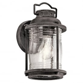 Ashland Bay Small Wall Lantern In Weathered Zinc Finish KL/ASHLANDBAY2/S