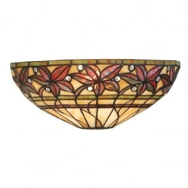 Ashstead Tiffany Single Wall Light In Autumnal Colours 63917