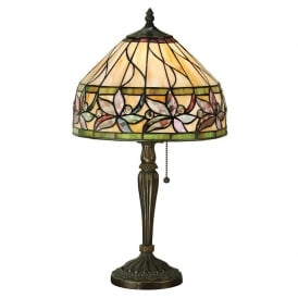 Ashstead Tiffany Small Table Lamp In Autumnal Colours 63915