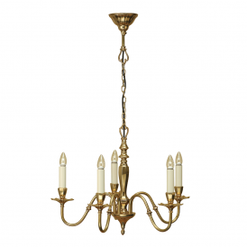 Asquith 5 Light Ceiling Pendant In Brass Finish ABY1002P5