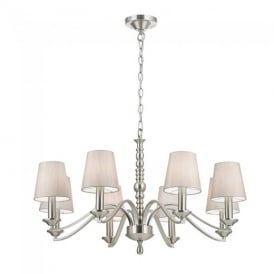 Astaire 8 Light Ceiling Pendant Light in Satin Nickel Finish ASTAIRE-8SN