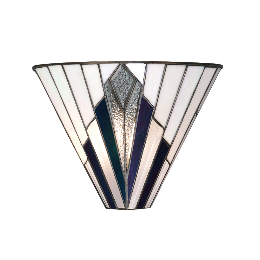 Interiors 1900 Astoria Tiffany Wall Light In Art Deco Style 63940 Lighting From The Home Lighting Centre Uk