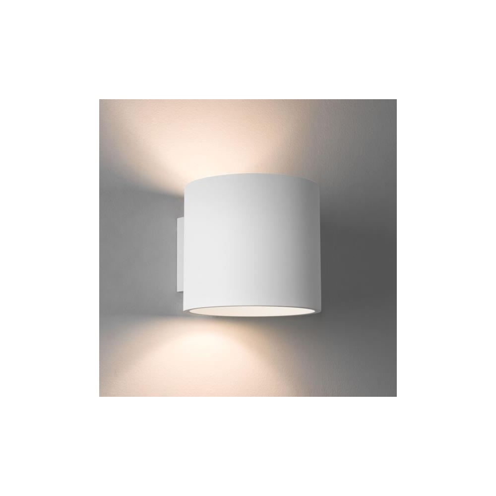 Wall Lights Plaster Finish : Astro Lighting Astro Brenta 175 Round Wall Light in Plaster Finish 7261 - Lighting from The Home ...